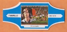 1974 World Cup Cigar Band West Germany Gerd Muller (Blue)